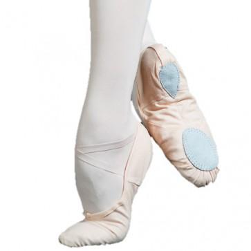 Zapatilla Ballet Shido Dance Wear de tela con suela partida.