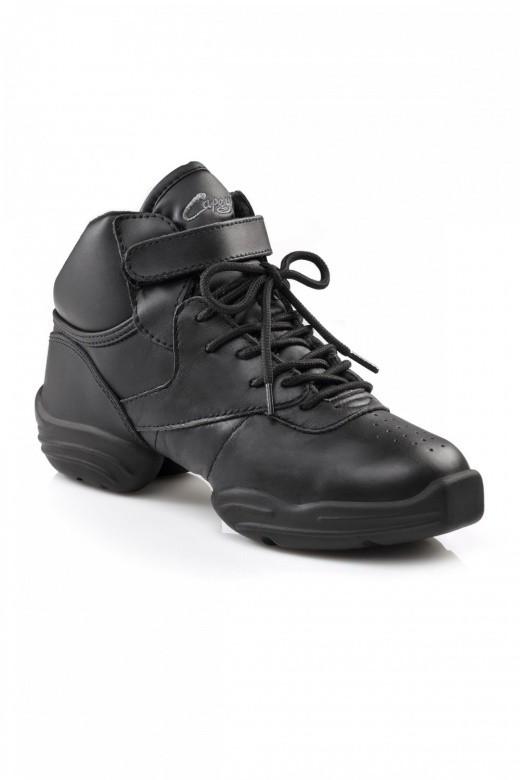 Capezio Capezio DS01 Dansneaker - Zapatillas de cuero unisex, Negro, 44