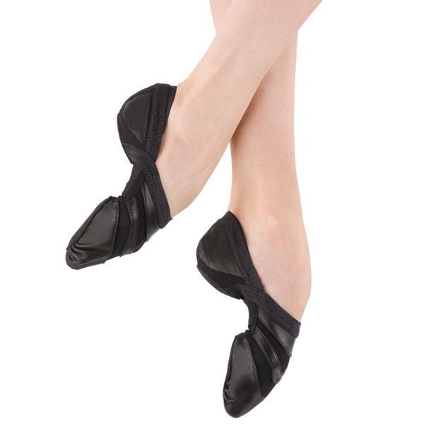 Capezio - Zapatillas de danza de cuero para mujer, color negro, talla 39