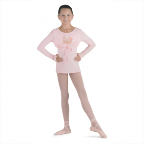 Camiseta Ballet Niña Exclusiva Bloch- CZ9090