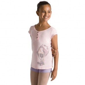 Camiseta de Ballet Niña Exclusiva Bloch- CZ9162