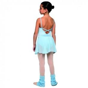 Maillot Ballet Terciopelo Niña Intermezzo - 3705 rosa y blanco