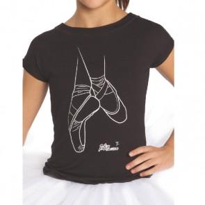 Camiseta Ballet Niña Intermezzo - 6374 Camlove Camiseta para bailarinas, Camiseta de ballet con dibujo de puntas de ballet. Camiseta para las bailarinas más pequeñas de la casa. Camiseta de puntas de ballet.