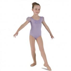 Maillot Ballet Mirella Exclusivo – M568C niña en rosa y lila, manga de farol