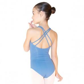 maillot ballet masters-1005 maillot de tirantes finos cruzados para niña