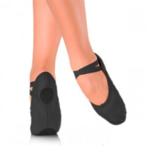 Zapatilla de ballet  de tela negra, talla niño liquidación.