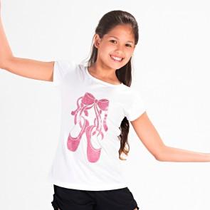 Camiseta Ballet Exclusiva Niña Sodança - E11027PV Puntas