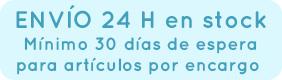 Envio urgente para articulos en stock y Espera de 30 dias para articulos por encargo