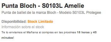 Stock Limitado mundance.com