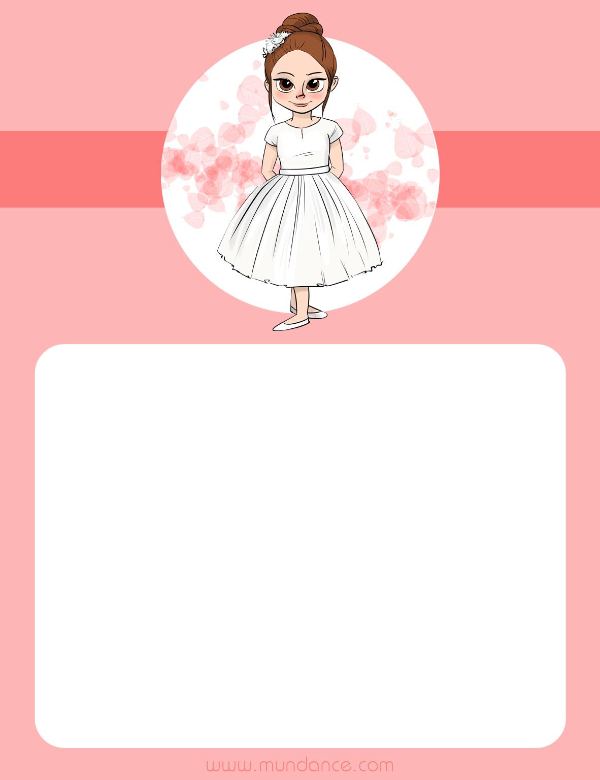 Plantillas para tu fiesta de comuni n mundance el - Hacer tarjetas de comunion ...